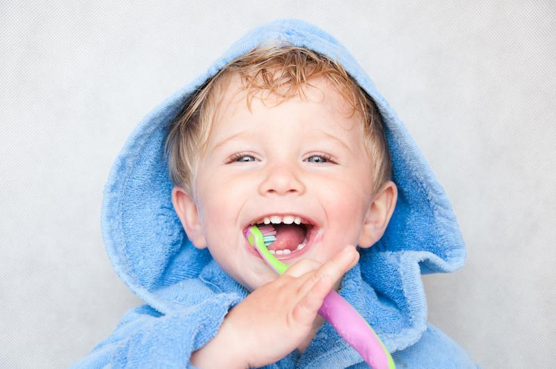 Young boy brushing teeth | Dentist Red Deer County