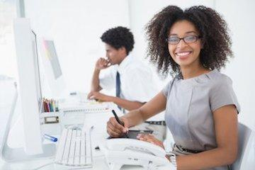woman at the office | invisalign red deer county ab